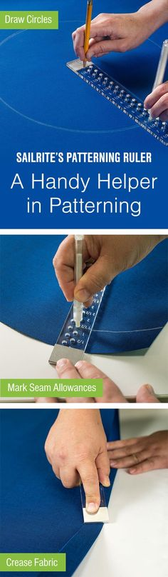 A ruler has never been so convenient! With a bunch of handy options, the Sailrite Patterning Ruler will be your new go-to tool.