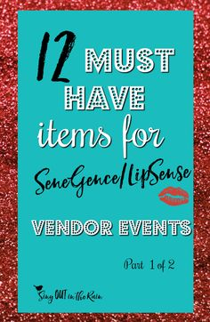 As a SeneGence vendor, there are certain items you need to bring to display on your table.  This is my MUST HAVE list of ideas that will make your booth the talk of the event. Part 1 of 2.  #lipsensevendorevent #senegencevendorevent #lipsense #senegence #vendorevents