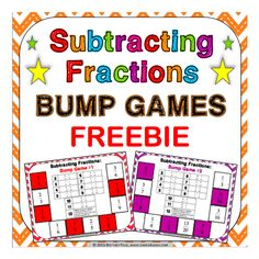 Subtracting Fractions Free