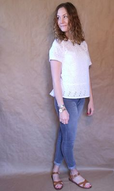 Palindrome Dry Goods: Eyelet (not quite) Crop Top - Vintage McCall's 4933