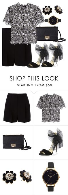 """""""Untitled #126"""" by amanihalaly on Polyvore featuring DKNY, self-portrait, Jimmy Choo, Kate Spade and Olivia Burton"""