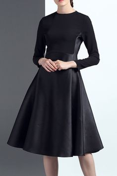 18CHENG -  Long Sleeve Midi Swing Dress