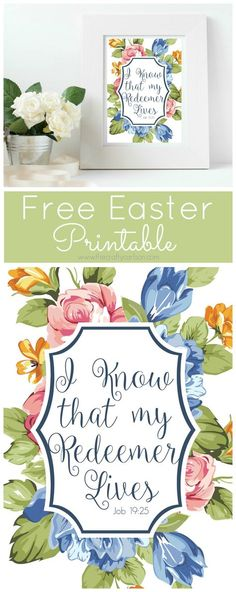 Free Printable Bible Verse for Easter - He Has Risen and Redeemer - free printable religious easter cards