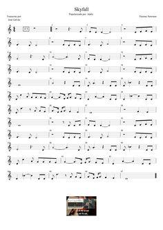 Skyfall - Adele - Pauta para flauta. Educação Musical