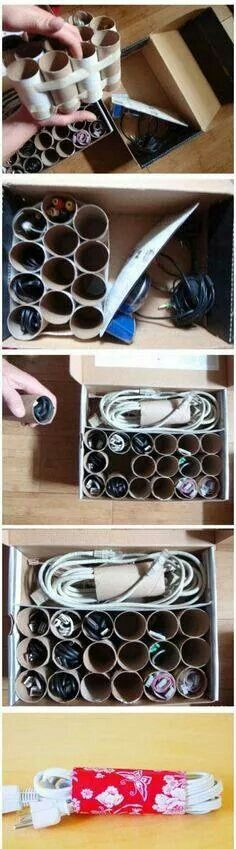 Storage for cables + leads
