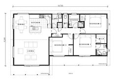Three Bedroom Home House Floor Plans, Layout, Homes, House Design, Flooring, How To Plan, Bedroom, Home Plants, Houses