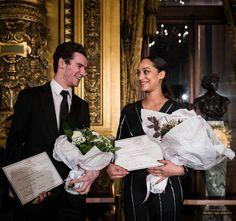 Prix de la danse de l'Arop pour la saison 2016/2017 à Letizia Galloni et Paul Marque, lors d'une cérémonie au Palais Garnier. #balletoperadeparis #Arop #Danse @ Julien Benhamou / Arop2018.