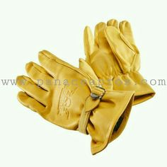 ROKKER Gloves California Light in yellow  classic yellow motorcyle gauntlet  gloves made from natural leather - order now at cf46deb945