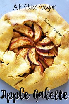 Rustic Apple Galette made with Otto's Naturals Cassava Flour (AIP, Paleo, Vegan) | The Curious Coconut