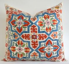 SALE Vintage Hand Embroidered Suzani Pillow. Online etsy Decorative Throw Pillows by sukan