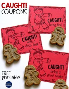 FREE Caught being kind coupons with caught being a good fried, having a clean desk, and being a great reader. Add to your Christmas activities to keep classroom management on track, for the December desk fairy, or random acts of kindness RAK week!