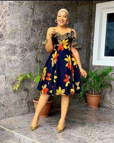Afican Ankara Dress African Fashion Ankara, Latest African Fashion Dresses, African Print Fashion, Short African Dresses, African Print Dresses, African Prints, Best African Dress Designs, African Design, African Style