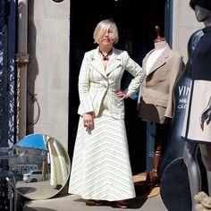 Summer suit straight from the #seventies  #vintage #ootd #aboutalook #sootd #edfashion #scotstreetstyle #stockbridgeedinburgh #ststephenstreet #vogue #fashion #style #vintageaccessories #manrepeller #maxiskirt #70's #missbizio #missbiziocouture