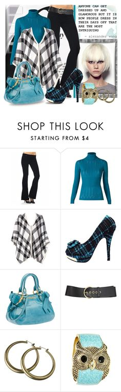 """Mixing Plaids"" by sheryl-lee ❤ liked on Polyvore featuring By Terry, BLANKNYC, MANGO, Alice + Olivia, Miu Miu, Haute Hippie, Alexander Wang and Wet Seal"