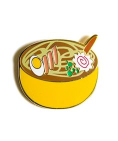 NEW! Our Ramen Enamel Pin. For the worlds greatest food. #ramenrules