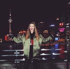 That's a wrap! The model showed off a big smile as she posed in Shanghai, China, marking the conclusion of this season's Together Tour