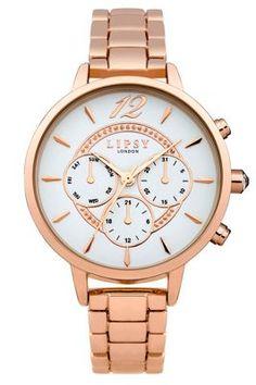 Lipsy Ladies rose gold tone bracelet watch | Debenhams