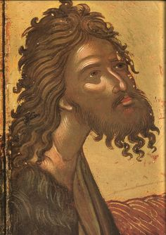 St John the Baptist Angel of the Desert (detail); Athos, Monastery of Pantokrator Religious Images, Religious Icons, Religious Art, Byzantine Icons, Byzantine Art, Russian Icons, Best Icons, Holy Mary, Drawing Projects