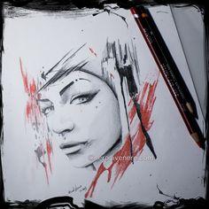 #tattoo #tatuaggio #polka #portrait #red #sketch #disegno #ritratto #matita #pencil #draw