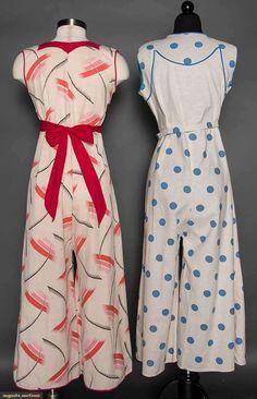 ATWO LADIES' BEACH PAJAMA SETS, 1930sugusta Auctions