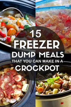 15 Freezer Dump Meals You Can Make In A Crock Pot - Make Home Sweeter Crock pot freezer meals are so cheap and easy to make. Turn on your slow cooker, dump, and go! Save time by prepping these make ahead freezer dump dinner meals to make on a busy night. Crockpot Dump Recipes, Slow Cooker Freezer Meals, Make Ahead Freezer Meals, Crock Pot Freezer, Slow Cooker Recipes, Freezer Dinner, Freezer Cooking, Cheap Crock Pot Meals, Crock Pot Dump Meals
