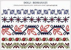 Semne Cusute: Romanian traditional motifs - OLTENIA Cross Stitch Borders, Cross Stitch Patterns, Hand Knitting, Knitting Patterns, Palestinian Embroidery, Folk Embroidery, Stitch Design, Beading Patterns, Pixel Art