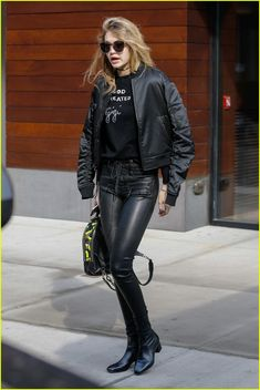 Gigi Hadid Shoots Down Rumors That Her Mom Doesn't Like Zayn Malik: Photo #927031. Gigi Hadid heads out to run some errands while wearing a shirt that says