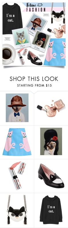 """""""Cat Trends"""" by esterbf ❤ liked on Polyvore featuring Empire Art Direct, VIVETTA, Industrie, Ciaté, MSGM, cat, polyvoreeditorial, polyvorefashion, polyvoreset and felinefashion"""
