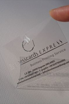 Perspex is a great alternative material to use for business cards as 40 embossed business cards with classy look and feel colourmoves