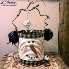 """me ~ Wooden snowman craft. I would like it to say """"Christmas time. Primitive Christmas, Christmas Snowman, Rustic Christmas, Christmas Holidays, Christmas Decorations, Christmas Ornaments, Primitive Snowmen, Diy Snowman Decorations, Snowman Ornaments"""