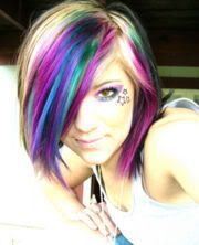 I REALLY like that, but I probably wouldn't do it to my hair! Mine is too dark!:P But I can do it with chalk! ;)
