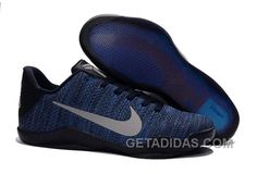 af2ef5b3e1d3 Nike Kobe 11 Flyknit Blue Basketball Shoes Top Deals 312450