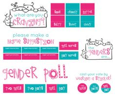 Twins Gender Reveal Party Stationery.