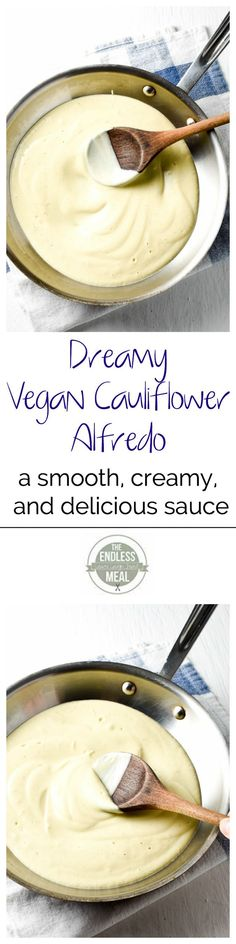 Dreamy Vegan Cauliflower Alfredo | The Endless Meal. *Be sure to use gluten…