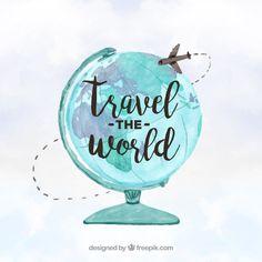 Travel around the world concept Free Vector Travel Wallpaper, Iphone Wallpaper, Travel Illustration, Design Graphique, Tumblr Wallpaper, Travel Themes, Travel Quotes, Travel Around The World, Cute Wallpapers