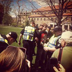 Another arrest on campus. #cu420 #jmc1 (Photo credit: @EstebanHRZ )
