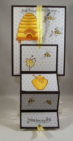 TLC549 Buzzin' By Fold-Up (untied) by Clownmom - Cards and Paper Crafts at Splitcoaststampers