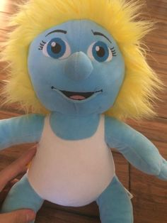 Plush 17 034 Smurfette Smurf Build A Bear Stuffed Blue Plush Doll The Smurfs | eBay