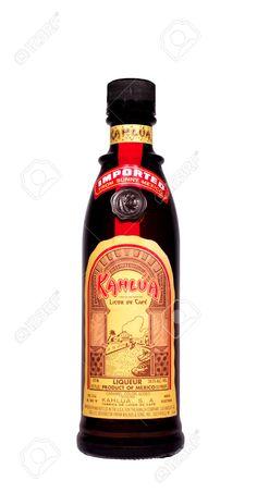 kahlua: RIVER FALLS,WISCONSIN-MARCH 26, 2014: A bottle of Kahlua