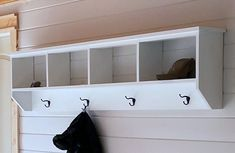 Build your own entryway wall organizer with hooks. This essential piece is a tried and true option for mudrooms and entryways. Easy to adjust in size for a perfect fit for your space and needs. Free step by step plans with build video by Ana-White.com. #anawhite #anawhiteplans #diy #entryway #shelves #shelfwithhooks Pottery Barn, Router Table Plans, Wall Shelf With Hooks, Diy Garage Shelves, Closet Shelving, Entryway Shelf, Modern Outdoor Chairs, Plywood Sheets, Diy Greenhouse