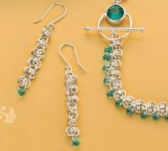 If you like chain maille jewelry, then you'll LOVE this chain maille jewelry pattern from expert Charlene Anderson.