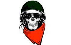 skull military helmet