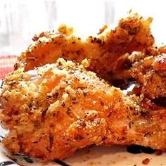 Oven Fried Chicken Wings | A healthy alternative for watching the game. http://allrecipes.com/recipe/oven-fried-chicken-wings/detail.aspx