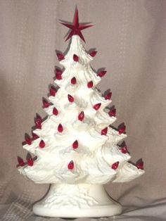 Ceramic Christmas trees. i love white ones