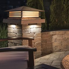 The simple contemporary design of this column mount will give any outdoor living space it's finishing touch. Customize it with multiple choices of sizes, finish and glass. Made from solid brass and comes with a lifetime guarantee.