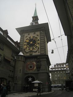 The town clock in Bern, Switzerland. Our tips for 25 fun things to do in Switzerland: http://www.europealacarte.co.uk/blog/2012/02/13/what-to-do-in-switzerland/