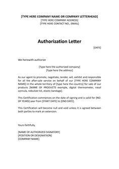Permit Authorization Letter