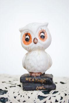Vintage Weather Owl Figurine. $14.50, via Etsy.