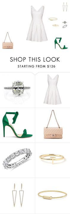 """Sem título #1470"" by crepusculo55 ❤ liked on Polyvore featuring Karen Millen, Alexandre Birman, Chanel, Blue Nile, Maya Brenner Designs and David Yurman"
