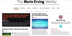 Go here to read my online mag: https://paper.li/mariaerving/1352135884 (published weekly).